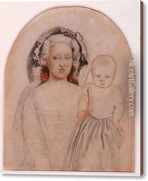 Study Of Emma And Catherine For Pretty Baa Lambs Oil Painting Reproduction By Ford Madox Brown Niceartgallery Com